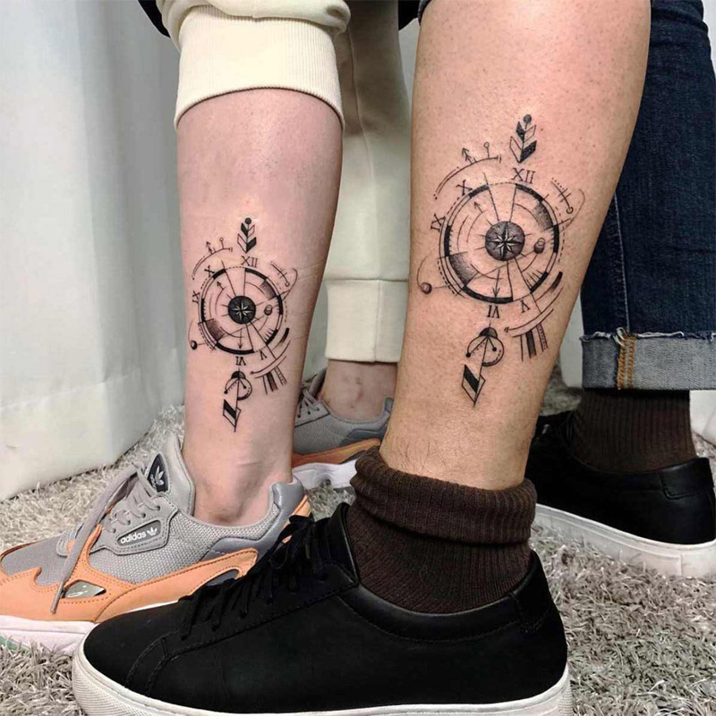 compass tattoo design ideas