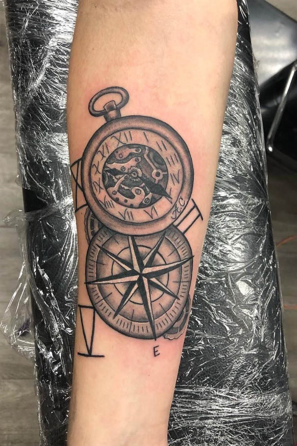 compass tattoo design ideas