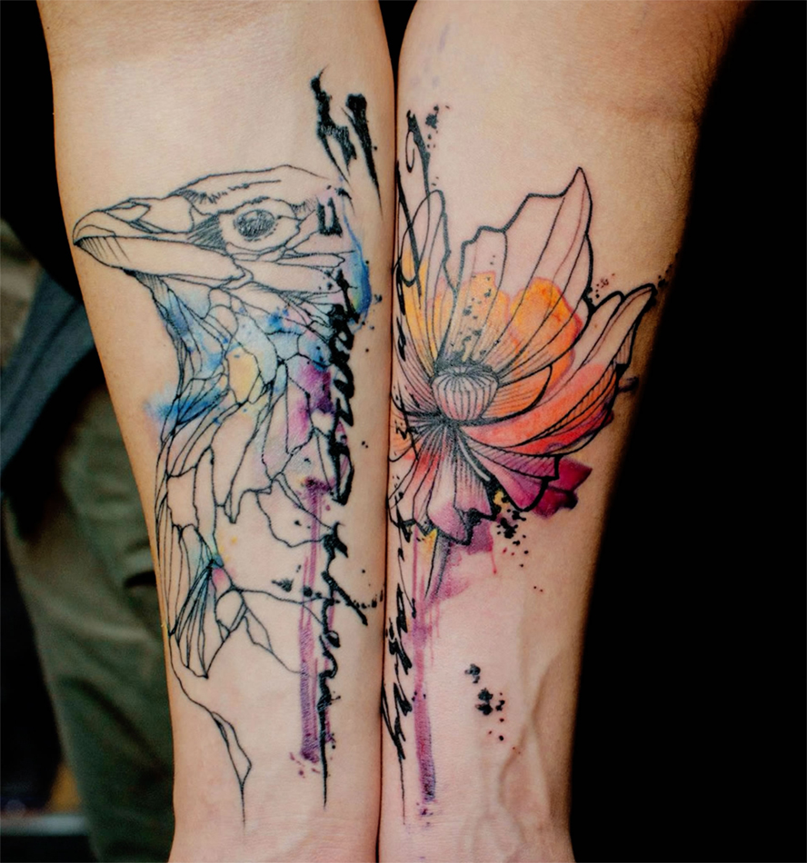 watercolor tattoo design ideas