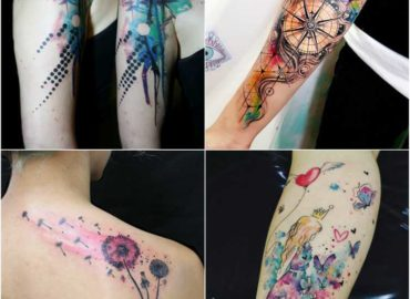 15 Best Colourful Watercolor Tattoo Design Ideas