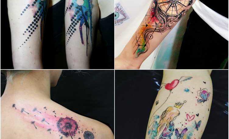 15 Best Colourful Watercolor Tattoo Design Ideas