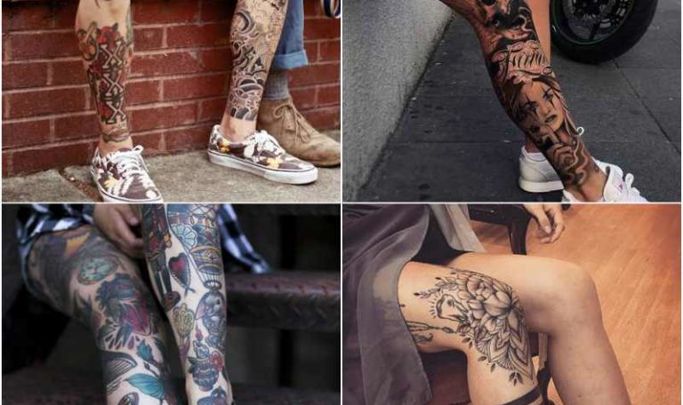 15 Best Leg Tattoo Design Ideas