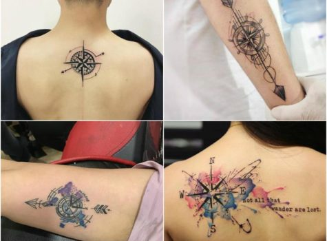 15 Best Compass Tattoo Design Ideas