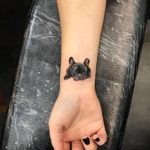 Adorable Dog Tattoo Design