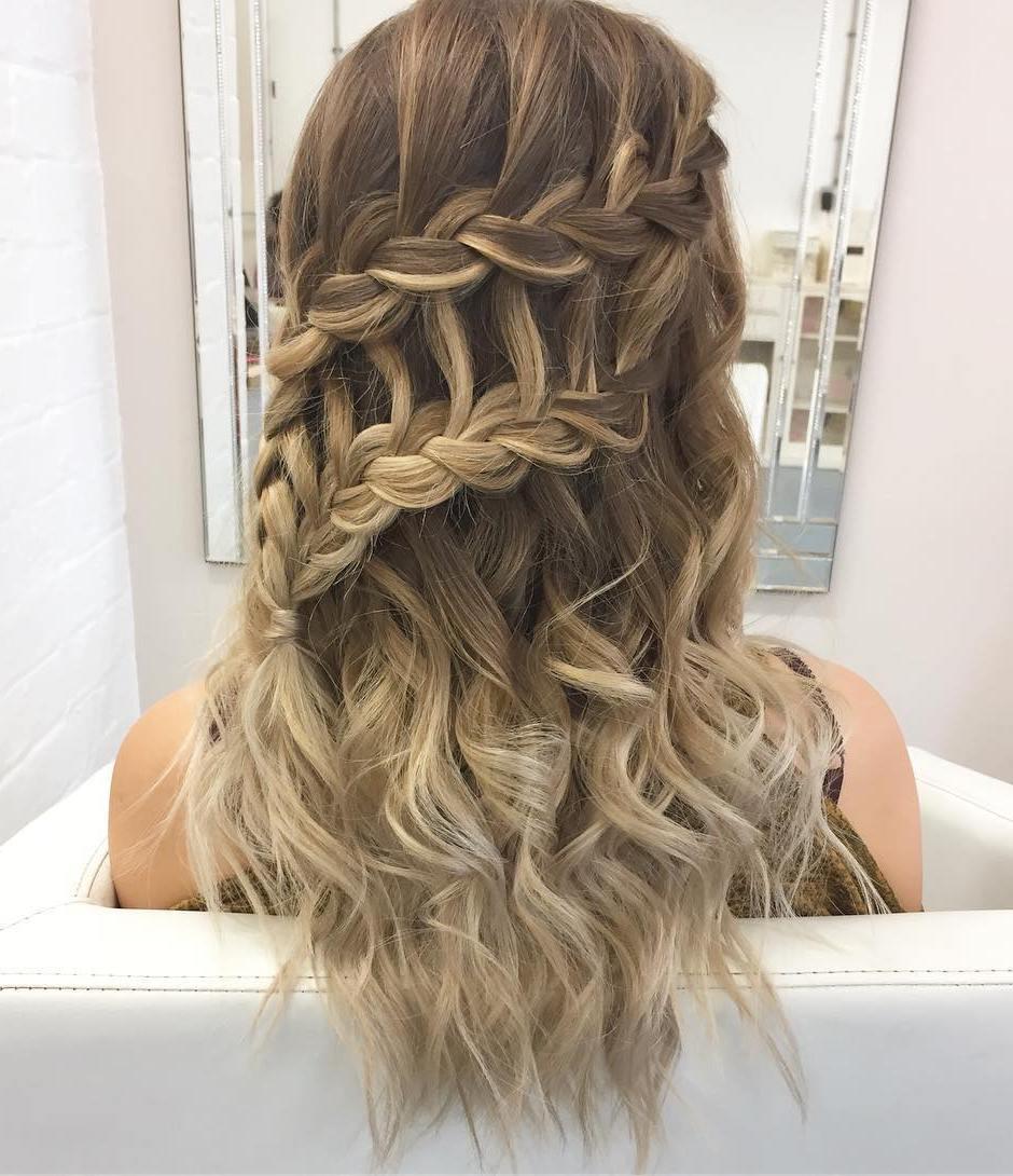 Waterfall Braids Hairstyle