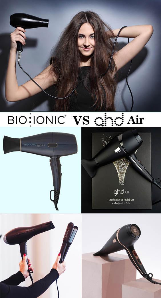 BIO Ionic Graphene MX VS GHD Air Professional Hair Dryer