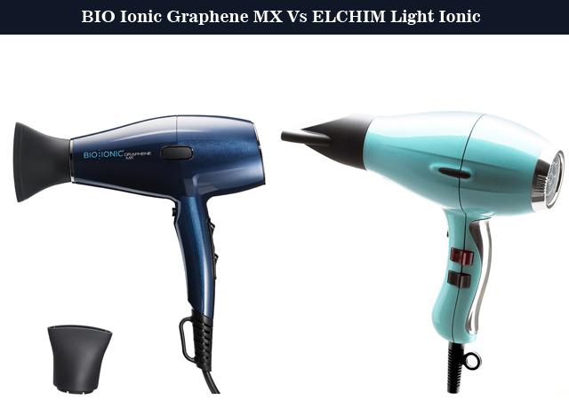 BIO Ionic Graphene MX Vs ELCHIM Light Ionic Hair Dryer
