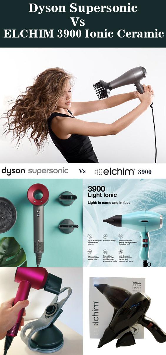 Dyson Supersonic VS ELCHIM 3900 Ionic Ceramic