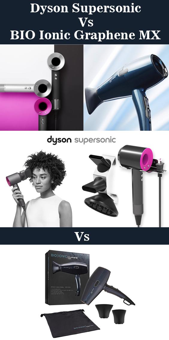 Dyson Supersonic Vs BIO Ionic Graphene MX Hair Dryer