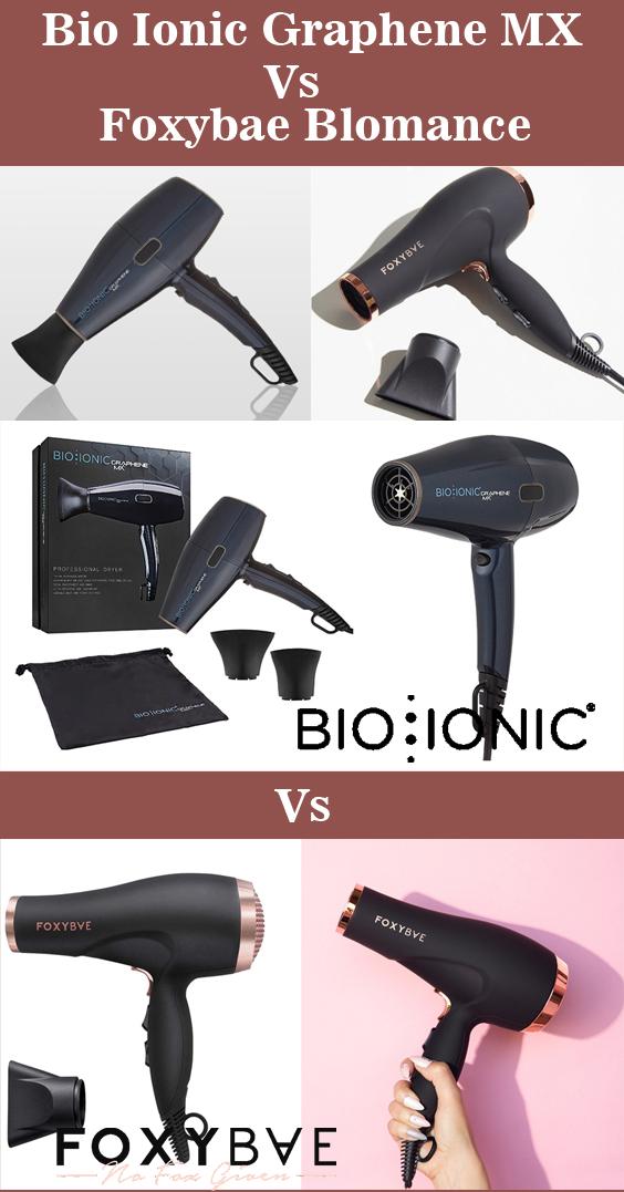 Bio Ionic Graphene MX vs Foxybae Blomance