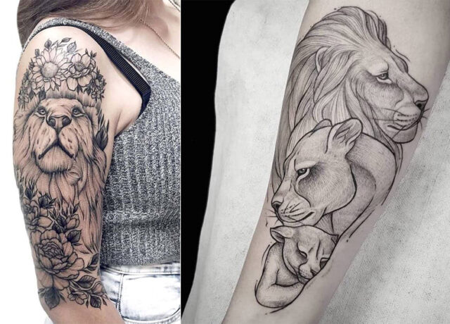 15 Fiercely Gorgeous Lion Tattoos for Boys and Girls