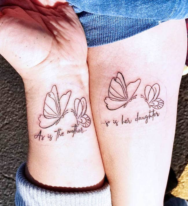 Mom And Daughter Tattoos