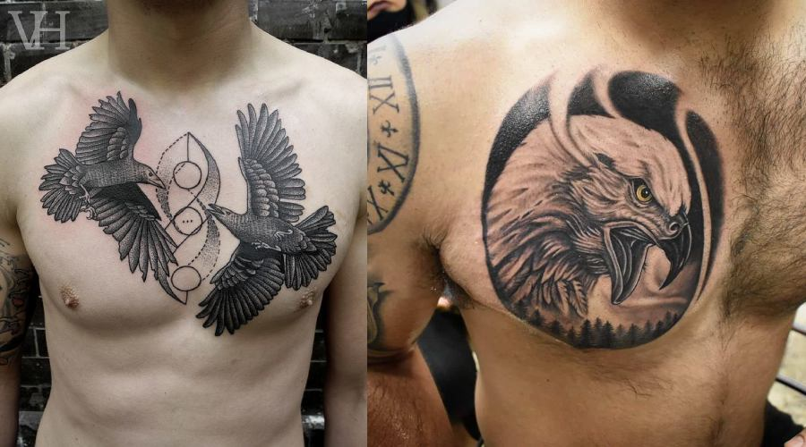 Chest Tattoos For Men- Bare It All Out or Stir Some Imagination!