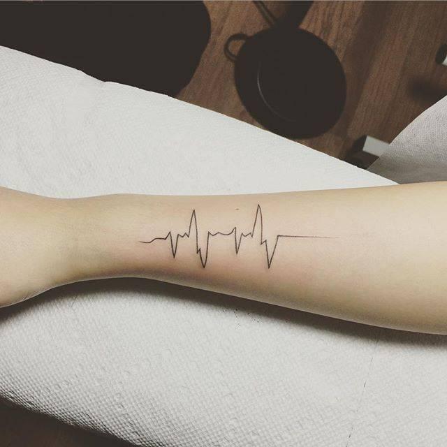 Heartbeat tattoos