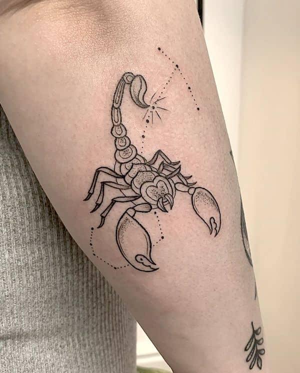 Meaningful Scorpion Tattoo