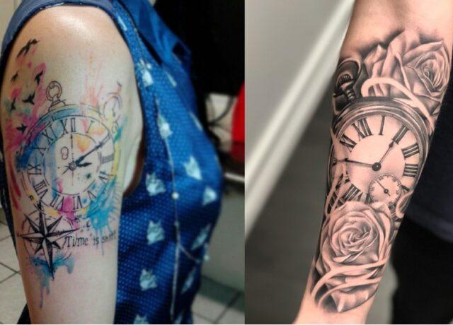 10 Best Clock Tattoo Designs Ideas